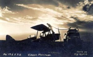 deHavilland Tiger Moth being refueled by fuel tender at RCAF Station Virden, MB date unknown. Photo by Roy Kepron
